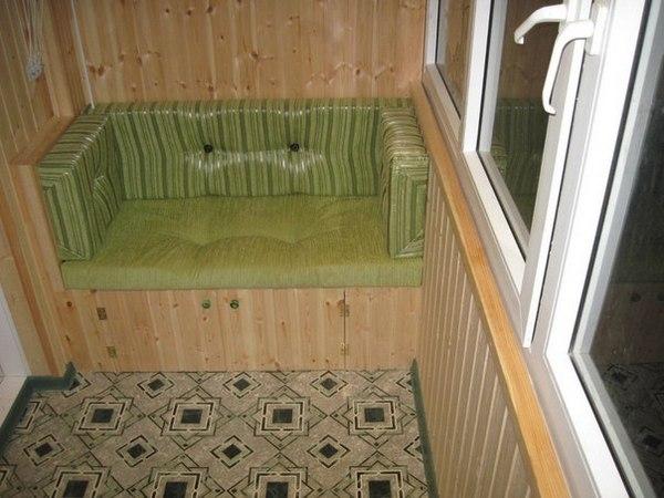 Как вагонкой отделать балкон внутри