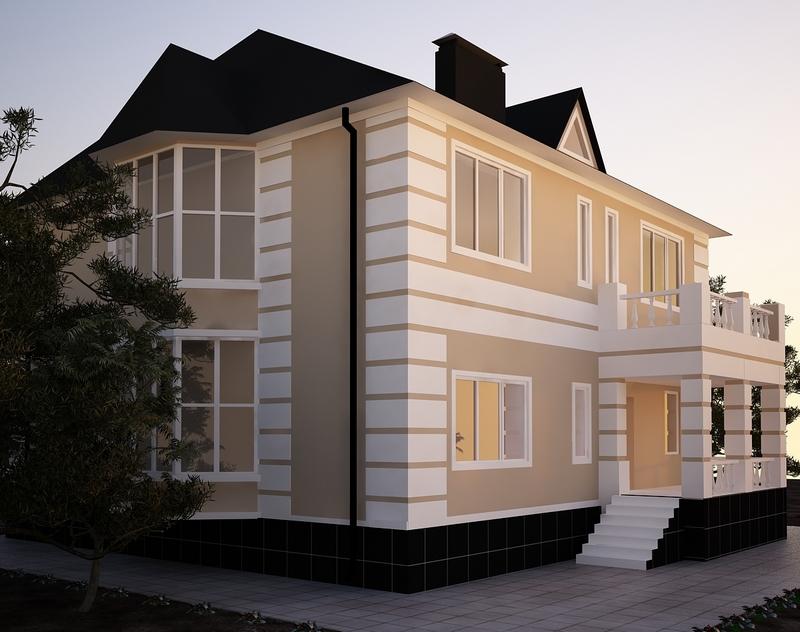 Фасады коттеджей фото